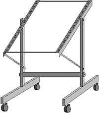 Hosa RMT-152 12-Space Adjustable Tilt Studio Rack w/ Wheels RMT152
