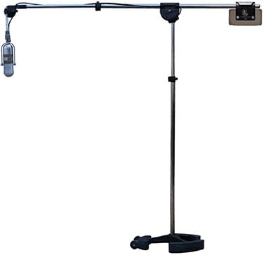 Microphone Stand with Boom Arm in Chrome