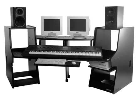 Workstation for keyboards, computers, mixers, video