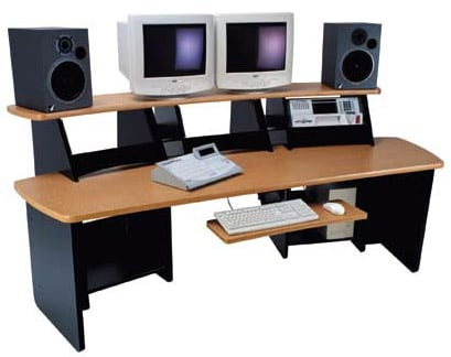 A/V Workstation Force12 Mahogany