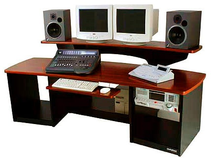Workstation with Mahogony Surface