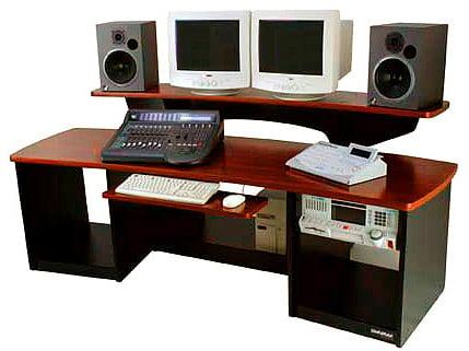 Omnirax FRC24B Workstation, Force 24 Black Melamine FRC24B