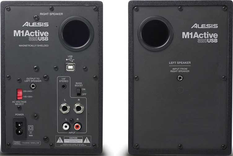 "Pair of 3"" Active Monitors with USB"