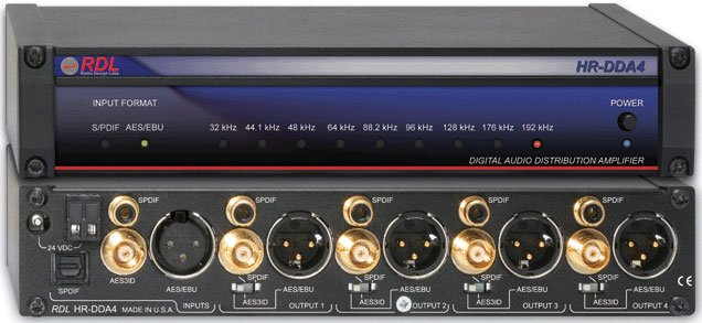 Digital/Analog Distributor, AES/EBU