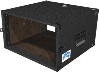 Grundorf Corp ML-06 6 RU Mighty Light™ Carpet Rack Case in Black ML-06