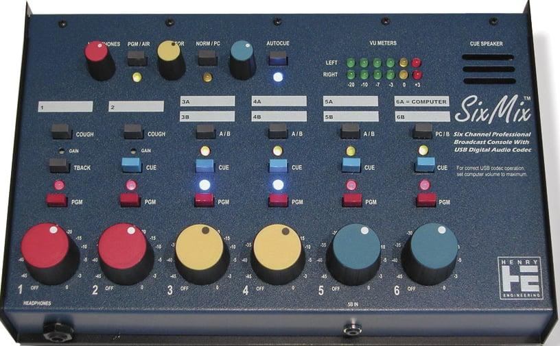 SixMix USB Broadcast Audio Console
