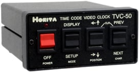 Time Code Video Clock Display