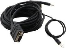 15-Pin HD Male to Male + Audio Mciro VGA Cable, 3 ft.