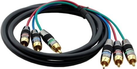 3-RCA Male to Male Cable (6 ft., 28 AWG Mini Coax)