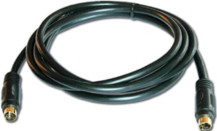 4-Pin S-Video Male to Male Cable, 35 ft.