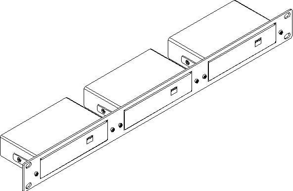 Kramer Rk 3tr 19 1ru Rack Adapter For 3 Tr Tools