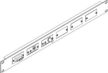"""19"""" 1RU Rack Adapter for 6 Wall Plate Inserts"""