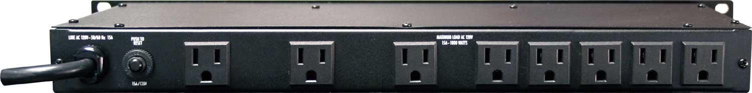 Power Conditioner, 9 Outlets (8 rear, 1 front), Pull-Out Lights, 15A
