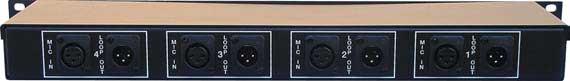 4-Channel Mic-Level Signal Splitter (Rack-Mountable)