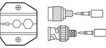 Crimpmaster Die, RG6, RG59, 8281/Quad, for Crimpmaster Crimp Tool Frame 30-506