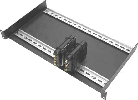 "19"" Balun Rack Mounting Tray (with 17"" DIN Rails)"