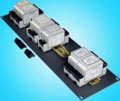 """3RU 19"""" Rack Mounting Panel Adaptor (for up to 12 Modules)"""