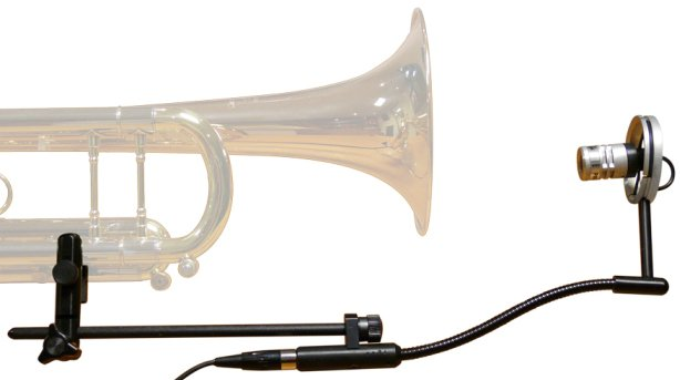 Off-The-Bell Trumpet Microphone System with Beltpack Preamp