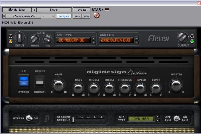 RTAS®/AudioSuite™ Amp Plug-In