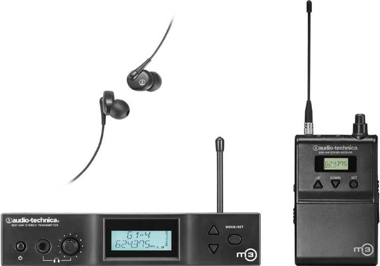 Audio-Technica M3-L M3L Wireless In-Ear Monitor System (UHF, TV CH 31-36) M3L