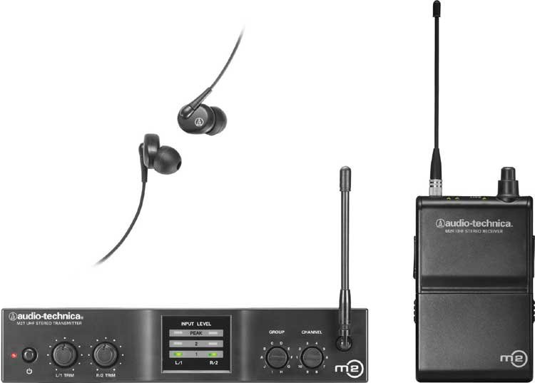 audio technica m2 wireless in ear monitor system in the l band tv ch 31 36 full compass. Black Bedroom Furniture Sets. Home Design Ideas