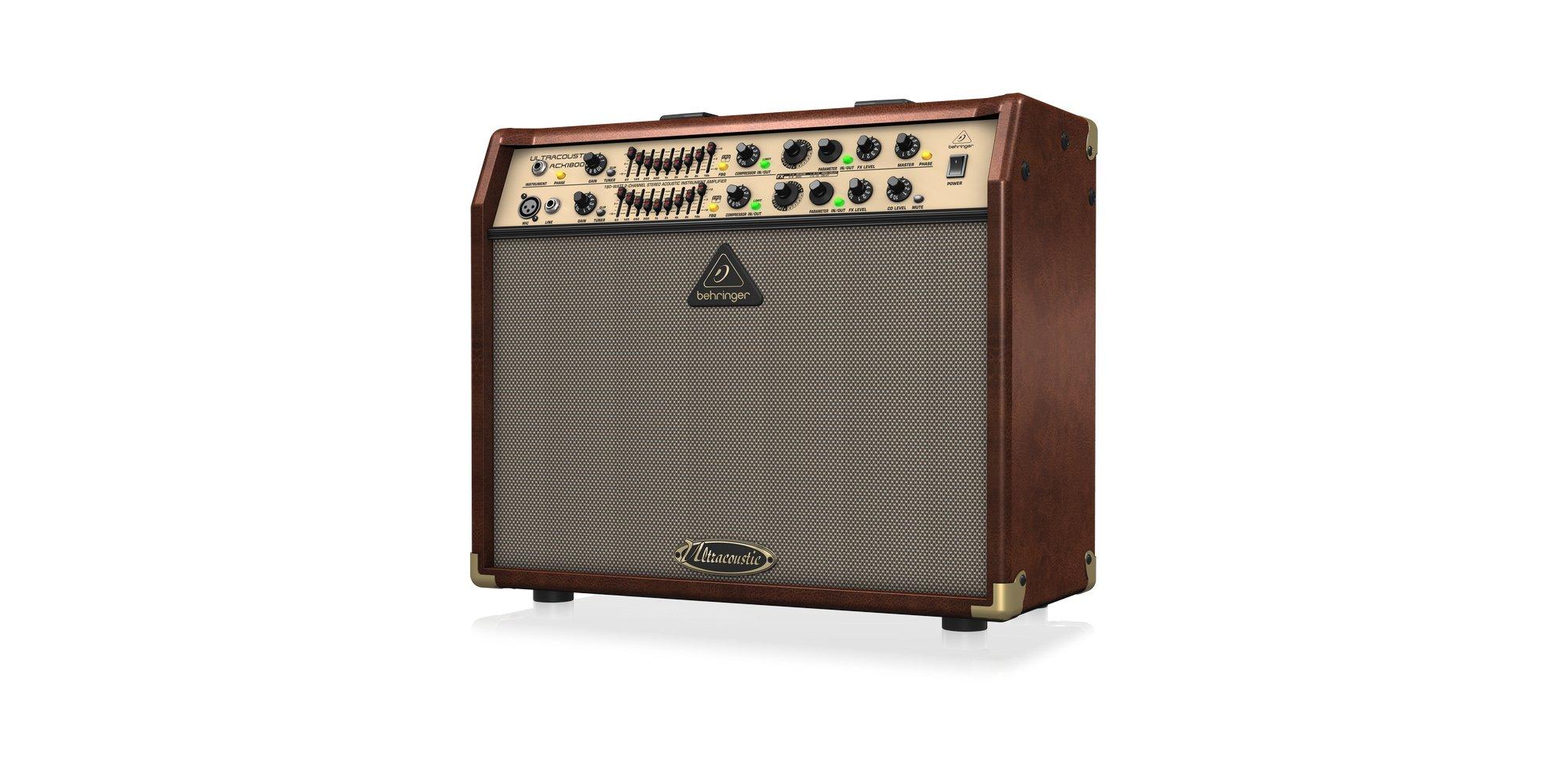 """2-Ch 180W 2x8"""" Acoustic Guitar Amplifier"""