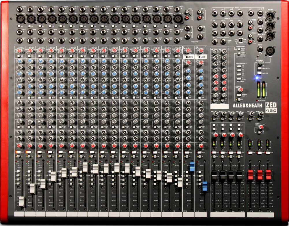 Mixing Console with USB Port, 16 Mic/Line Inputs, 2 Stereo Line Inputs, 4 Bus, SONAR LE Software