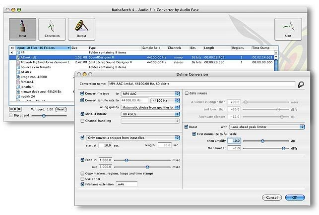Audio Ease BARBABATCH Batch Converter & Editor Software [MAC] BARBABATCH