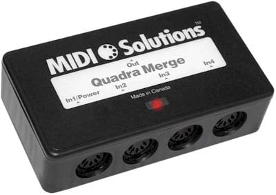 MIDI Solutions QUADRA-MERGER 4-Input MIDI Merger QUADRA-MERGER
