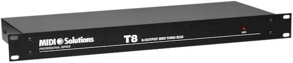 8-Output Active MIDI Thru Box (1 RU)