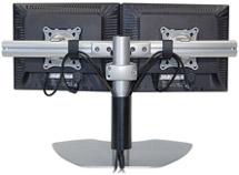 Dual Monitor Horizontal Table Stand (Black)