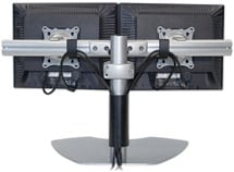 Dual Monitor Horizontal Table Stand (Silver)