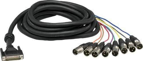 25-Pin D-Sub to 8xXLR-M Cable (16.4 ft.)