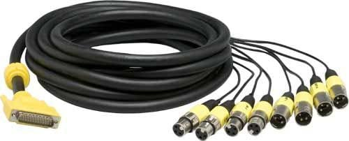 25-Pin D-Sub to 4xXLR-F/4xXLR-M, AES/EBU Cable (16.4 ft.)