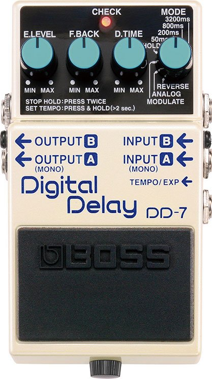 Digital Delay Guitar Pedal, Stereo Output