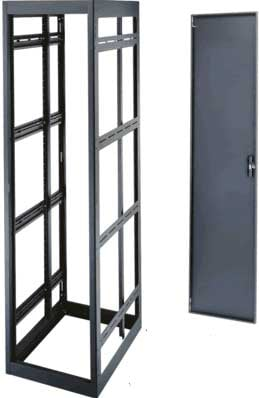 "Middle Atlantic Products MRK-4426-AV 44-Space, 77"" H x 26"" D Tall Welded Gangable Equipment Rack (A/V Configuration, with Side Panels) MRK-4426-AV"