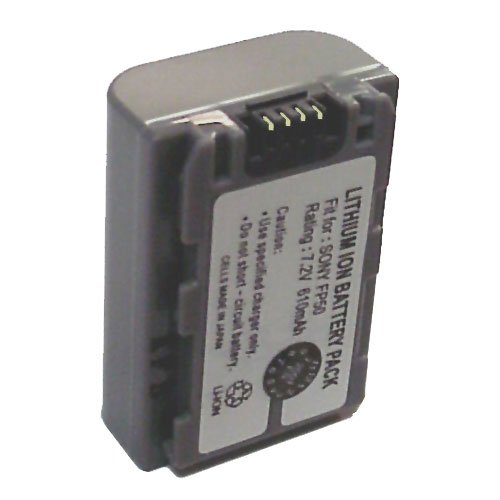 Battery for Sony NPFP50/70/90, LI-ION, 7.2V, 610mAh