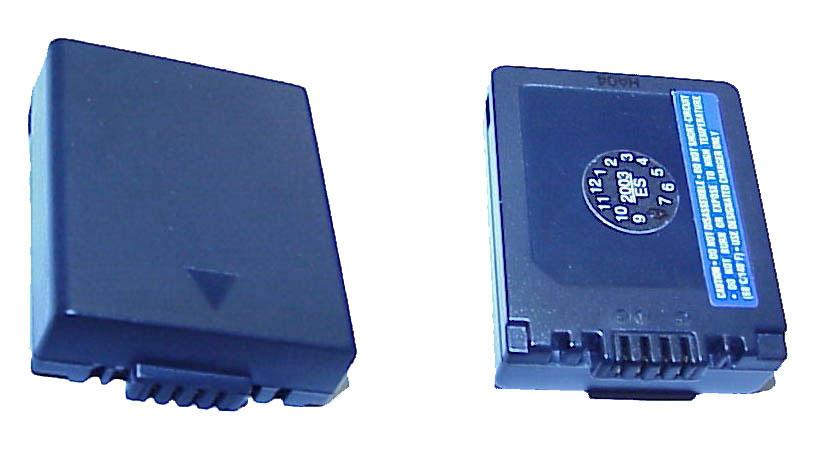 Battery for Panasonic CGR-S001/S002, LI-ION, 7.2V, 700mAh