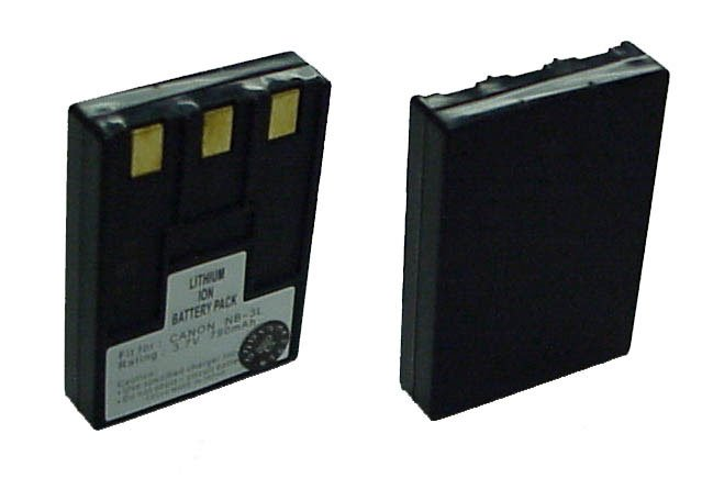 Battery for Canon NB3L, LI-ION, 3.7V, 800mAh