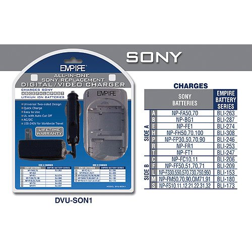 Universal Charger for Sony Batteries
