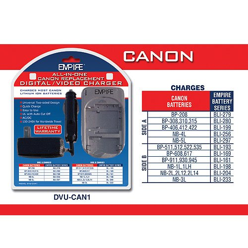 Universal Charger for Canon Batteries