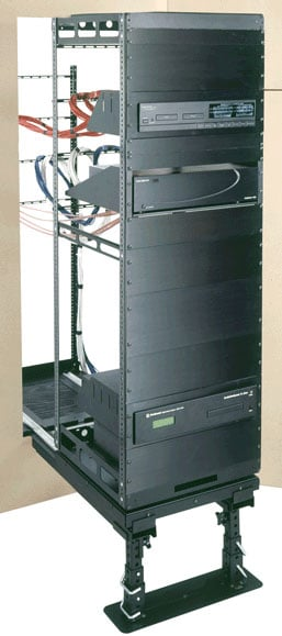 41-Space Rotating In-Wall Equipment Rack