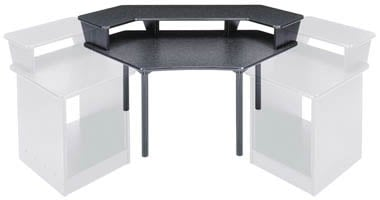 Corner Desk with 2-Piece Overbridge