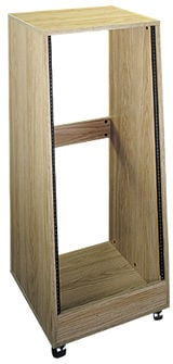 16-Space Slanted Oak Rack Enclosure with Casters