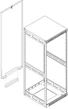 """65"""", 37-Space Rear Access Panel for Model 5-37 Slim-5 Rack"""