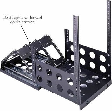 1 Pair of Hinged Cable Carriers for use with SRS Series Sliding Rail System