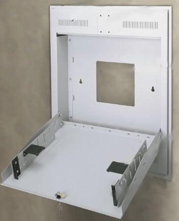 2-Space Recess Mount Tilt-Out Wall Rack
