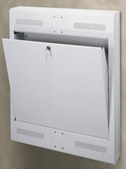 2-Space Surface-Mount Tilt-Out Wall Rack