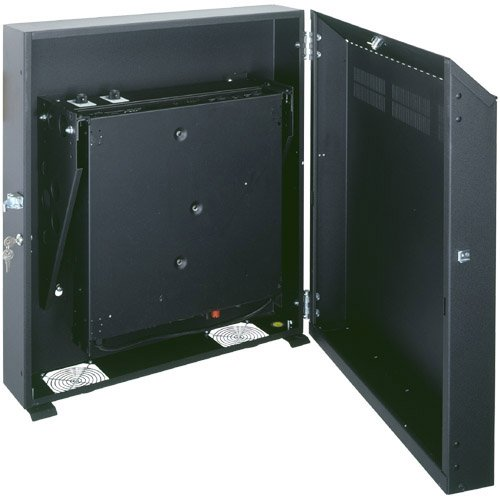 8-Space Low-Profile Wall-Mount Rack (Black)