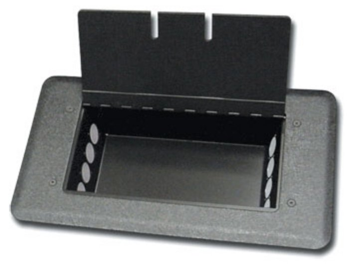 MC Series Floor Box Punched for 8x Neutrik NC3FP-1 Switchcraft D3F-Style XLR-Fs